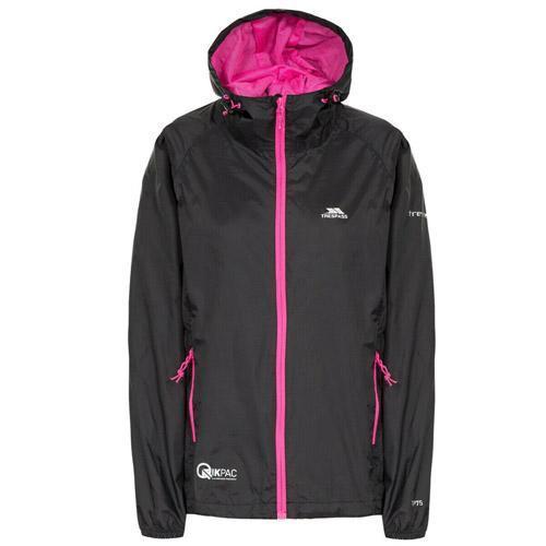Trespass Women's Waterproof Packaway Pouch Jacket Various Colours WMS - Black XS