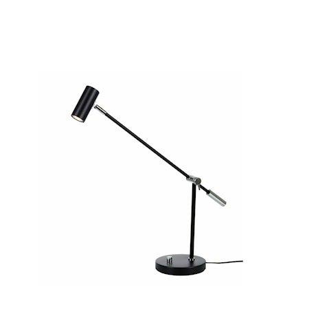 Cato Bordlampe Mattsvart LED Dimbar