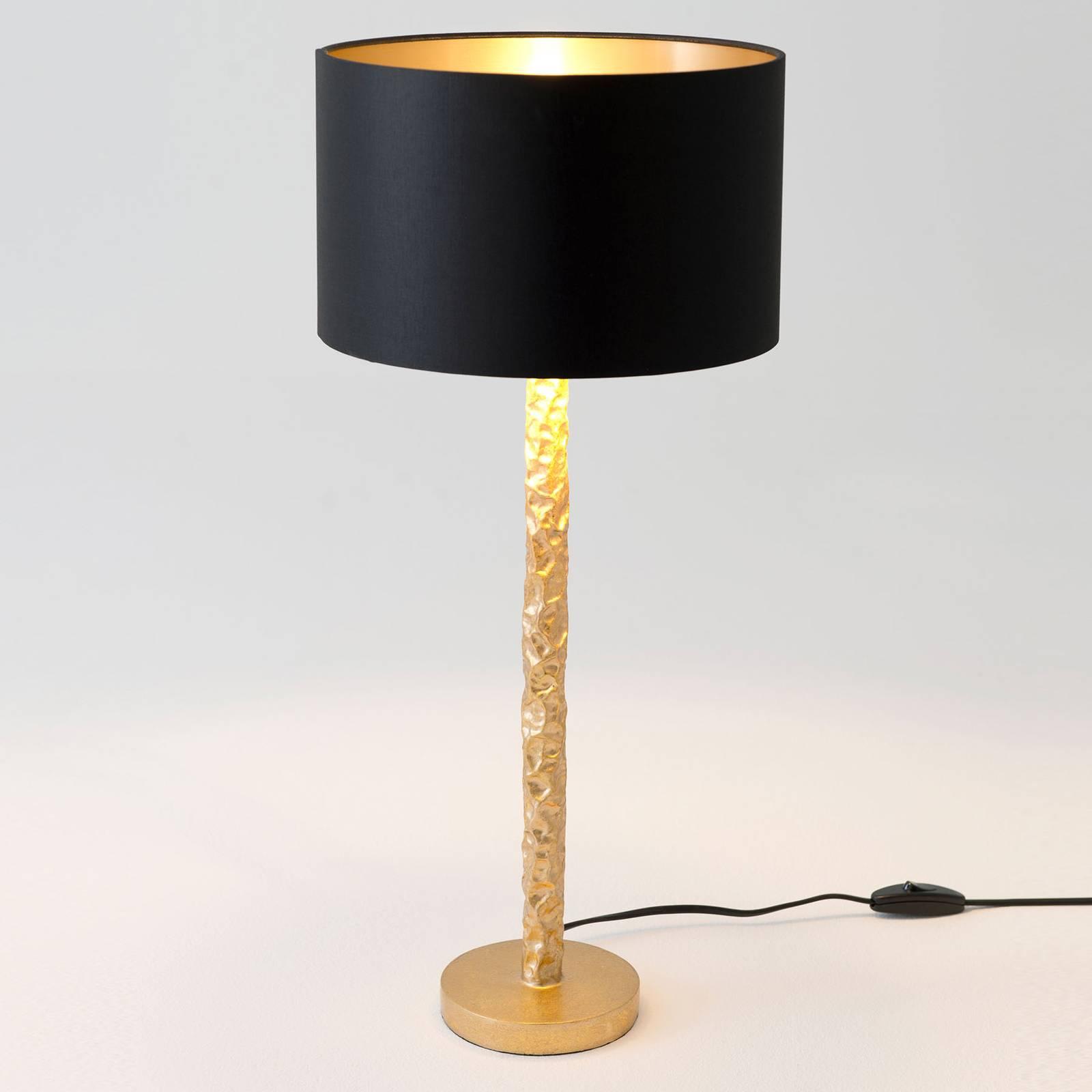 Pöytävalaisin Cancelliere Rotonda musta/kulta 57cm