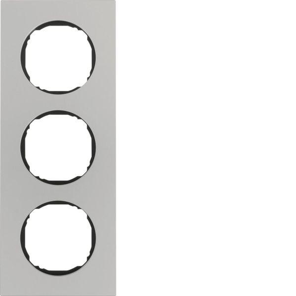 Hager 10132674 Peitekehys Berker R.8 -rasialle, alumiini 3-paikkainen