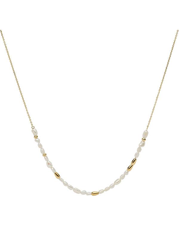 FOSSIL Halsband Drew - Guld JF03808710 Damsmycke