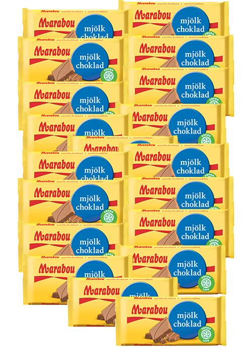 Marabou Mjölkchoklad 24g x 20 st
