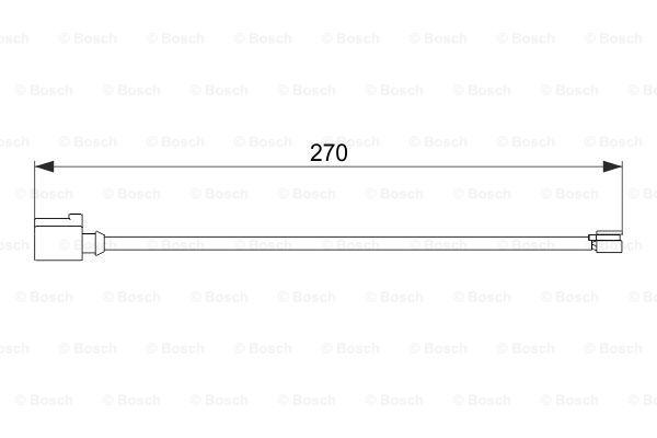 Jarrupalan kulumisen ilmaisin BOSCH 1 987 474 564