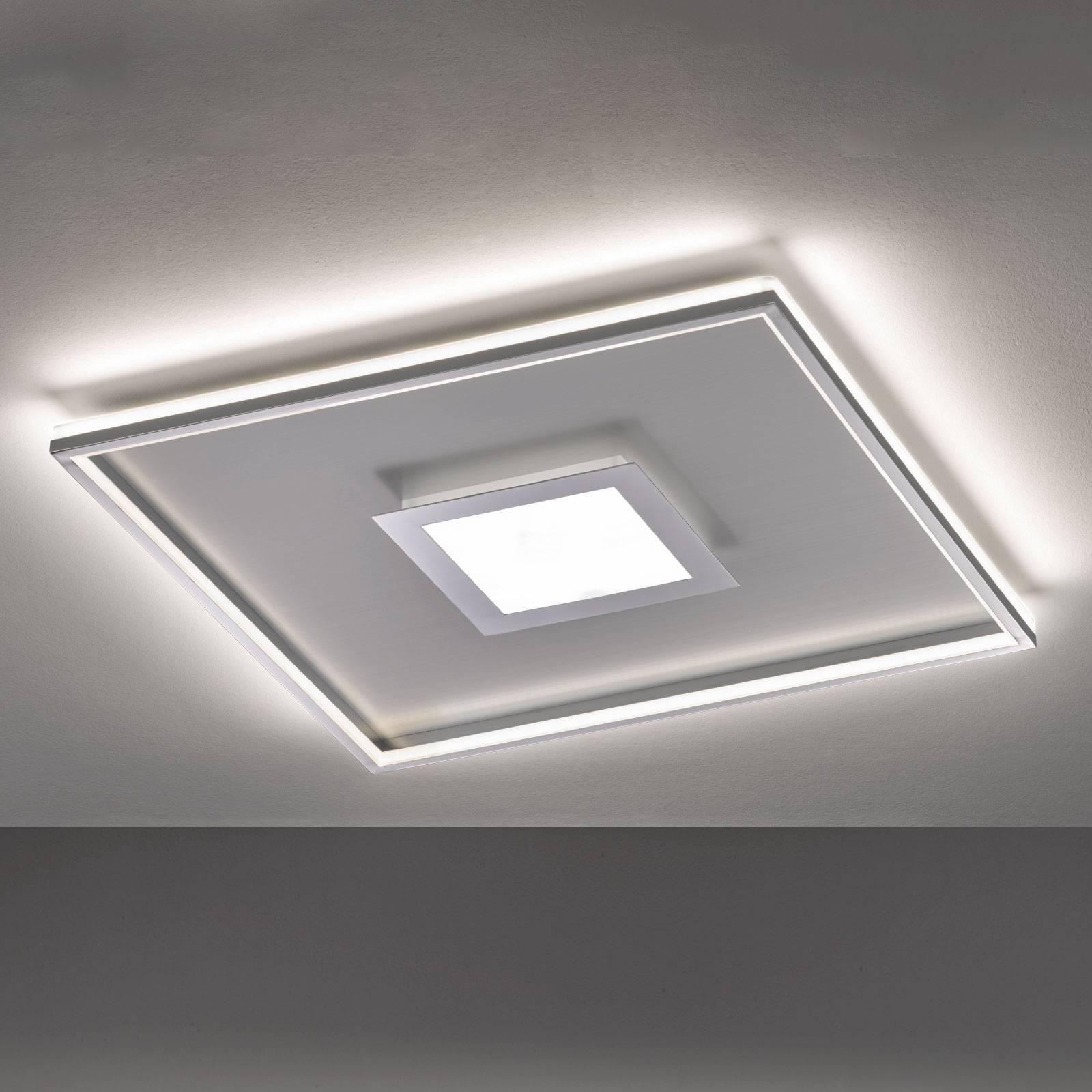 LED-kattovalaisin Zoe, neliönmuotoinen, 80 x 80 cm