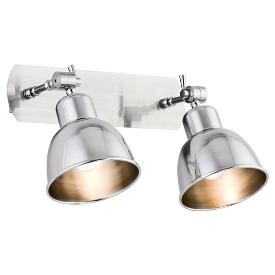 Vegglampe Emoti, 2 lyskilder, krom