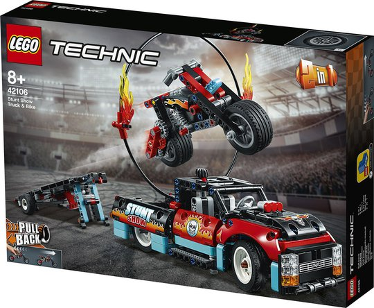 LEGO Technic 42106 Stuntmotorsykkel og pickup