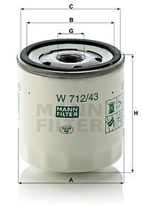 Öljynsuodatin MANN-FILTER W 712/43
