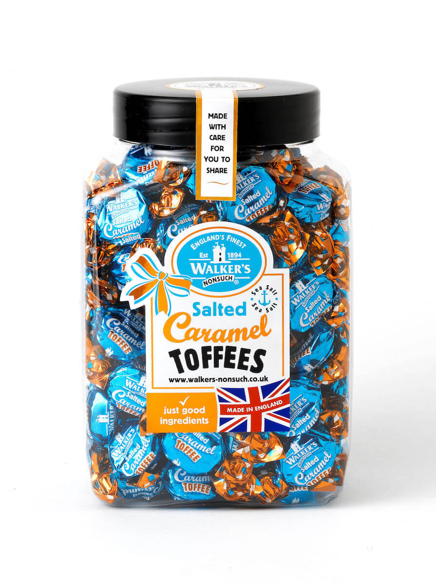 Walkers Salted Caramel Toffees burk 1.25kg
