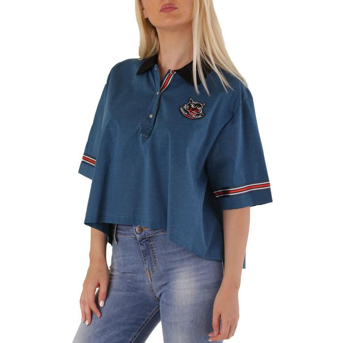 Diesel Women's T-Shirt Black 302524 - blue S