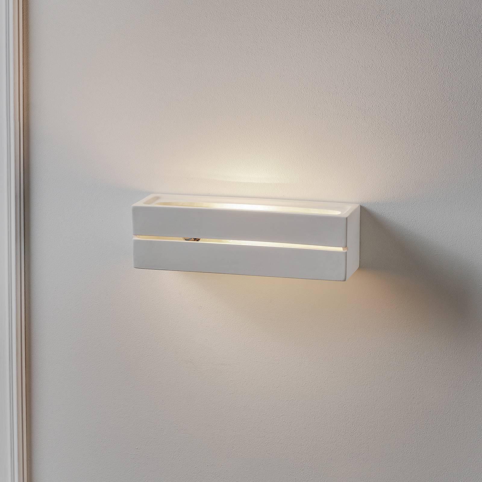 Seinälamppu Top, keraaminen, valkoinen, 32 x 9 cm