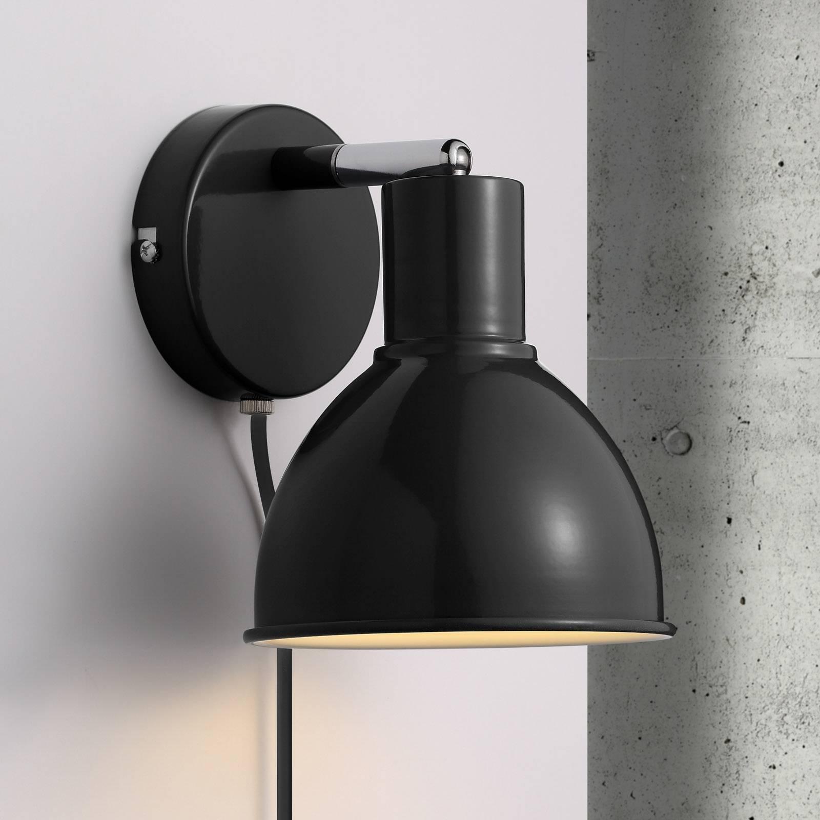 Upean mallinen Pop Wall -seinävalaisin, musta