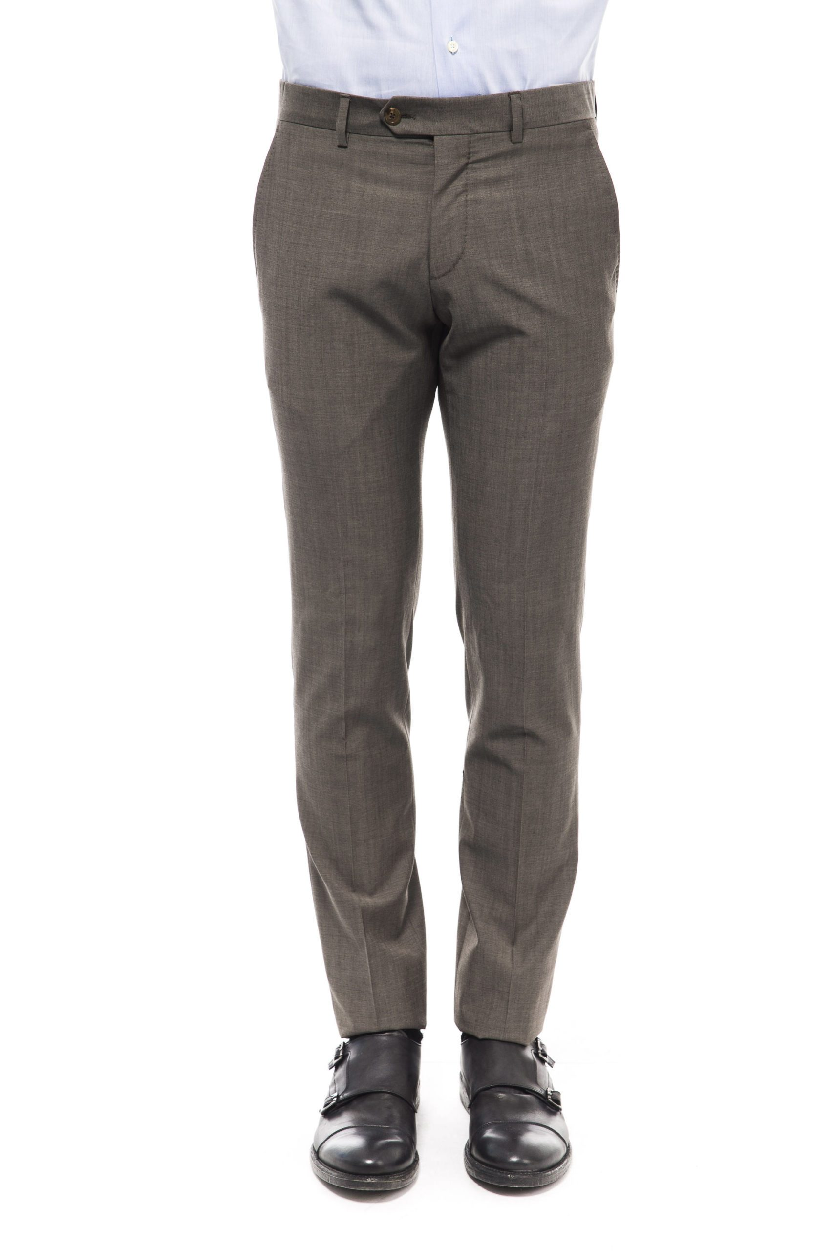 Uominitaliani Men's Trouser Gray UO1394750 - IT56 | XXL