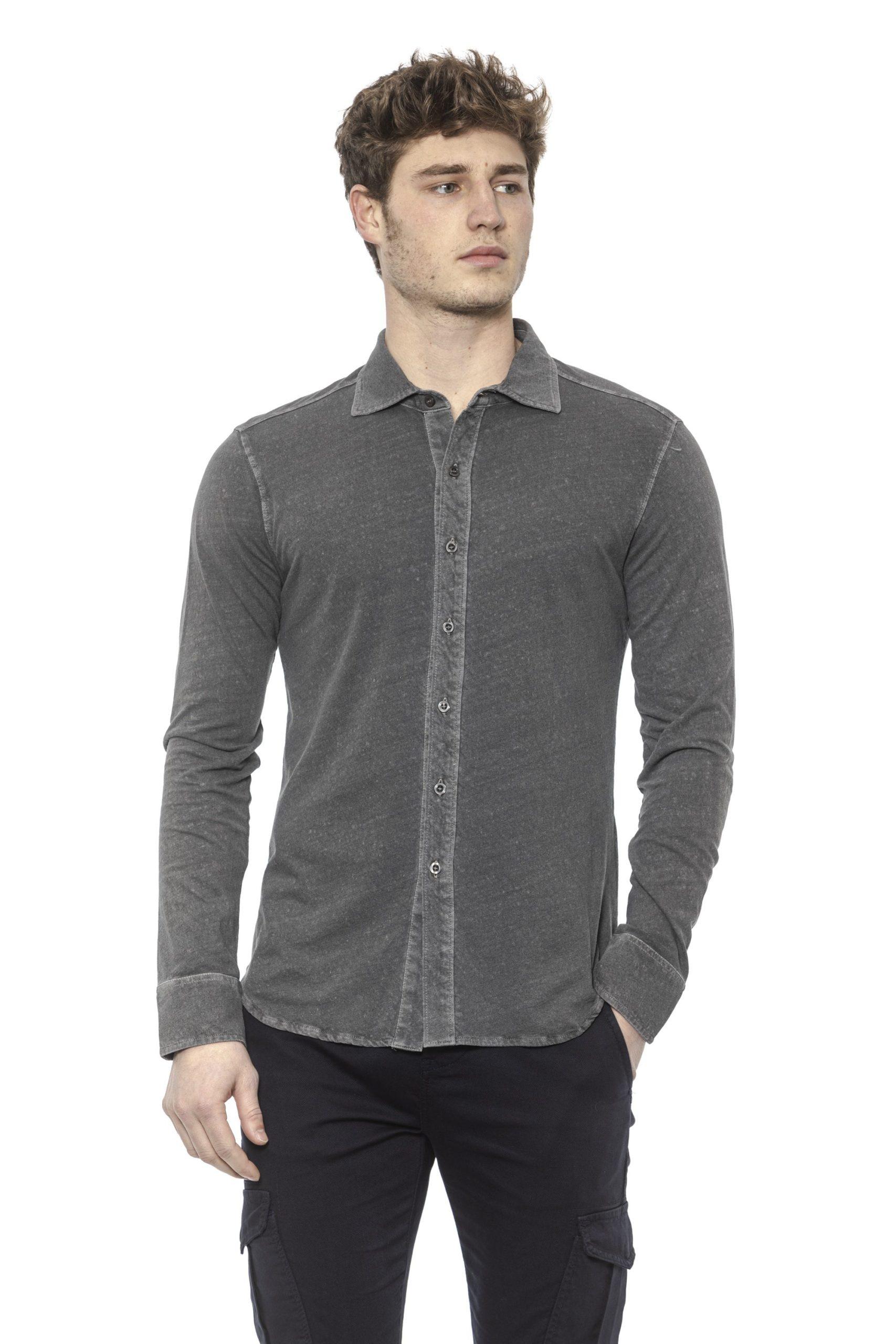 Alpha Studio Men's Titanio Shirt Gray AL1394985 - IT48   M
