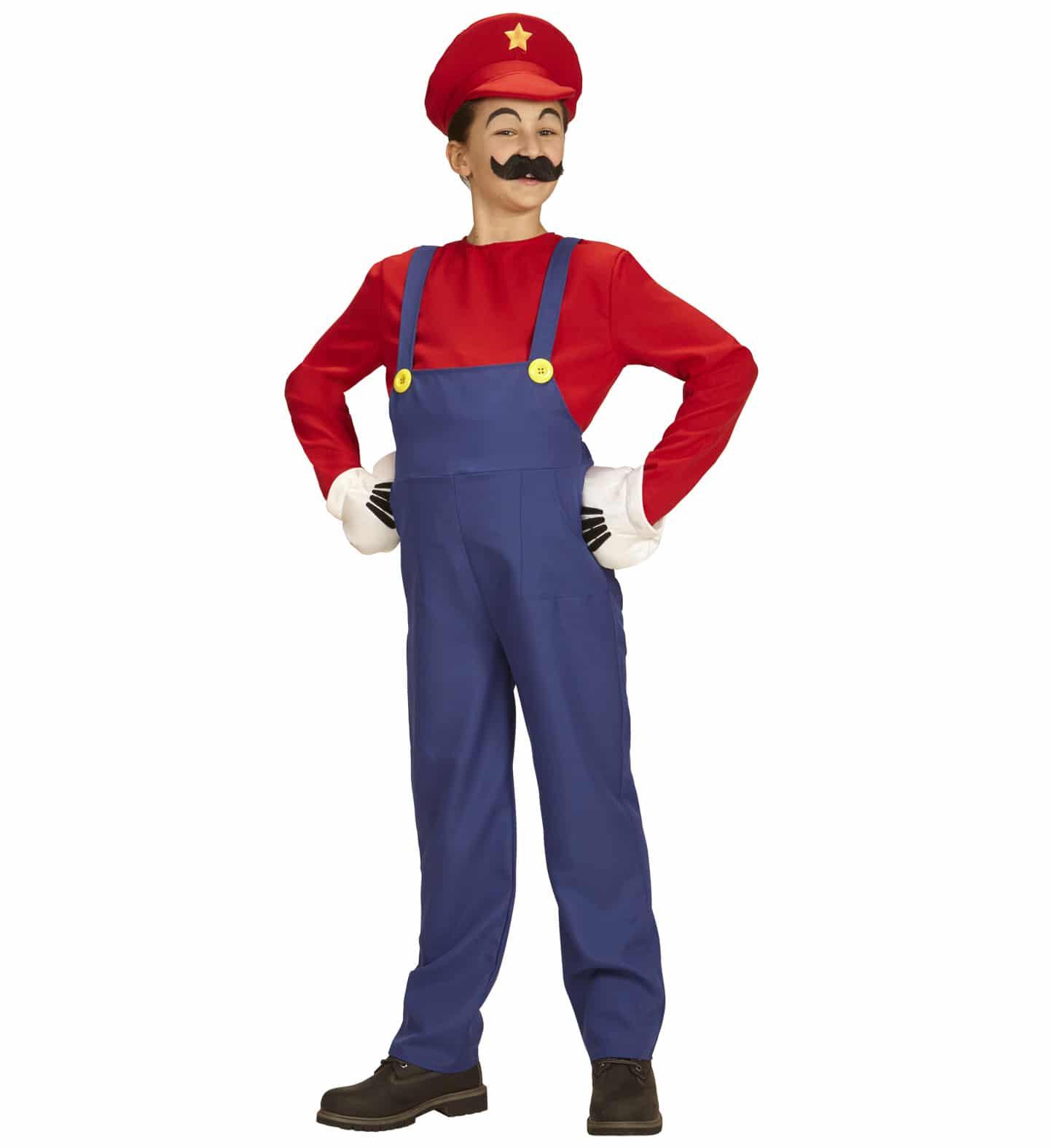 Super Mario maskeraddräkt barn 128