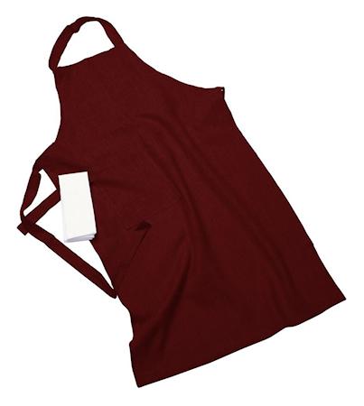 Erik classic langt forkle – Med håndduk, burgundy