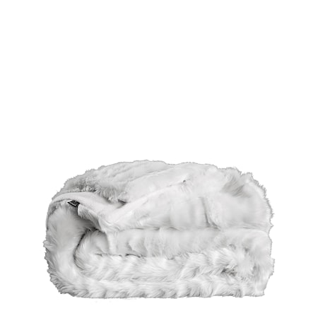Leia White Pläd 127x150