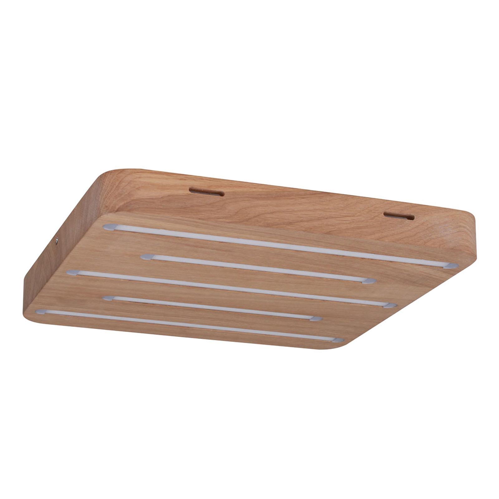 Nelikulmainen LED-kattolamppu Plafond Holz