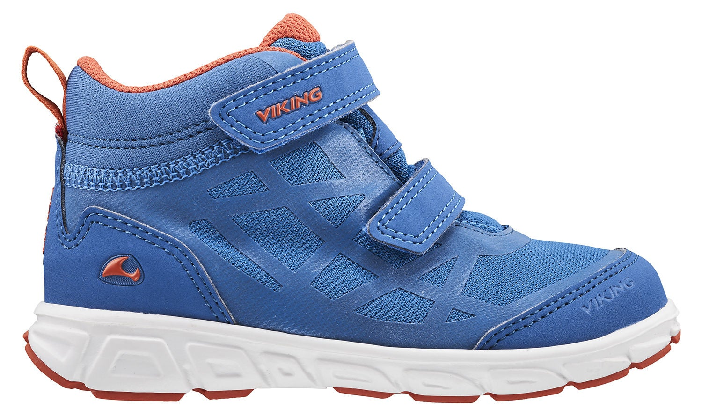 Viking Veme Mid GTX R Sneaker, Royal Blue/Rust, 23
