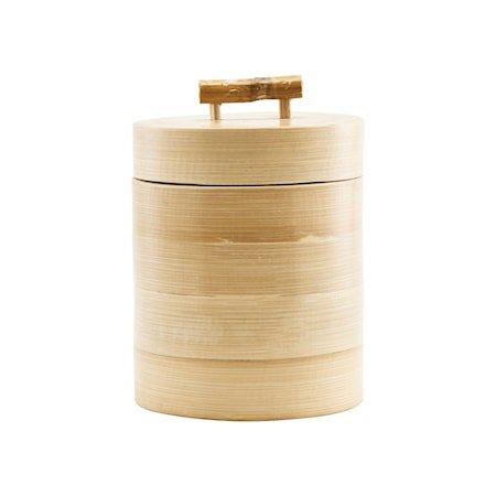Oppbevaring m. lokk Bamboo Ø12x15 cm
