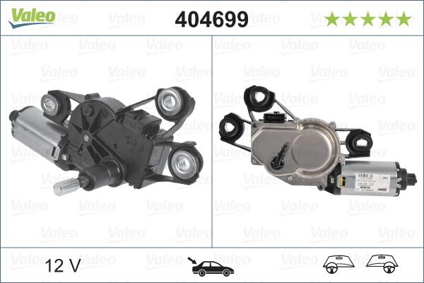 Pyyhkijän moottori VALEO 404699