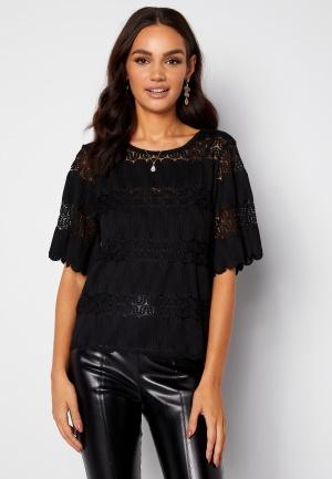 Happy Holly Maria kimono sleeve top Black 32/34