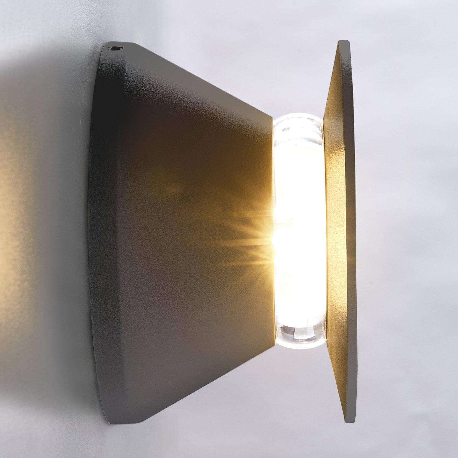 Utendørs LED-vegglampe Malaga, antrasitt