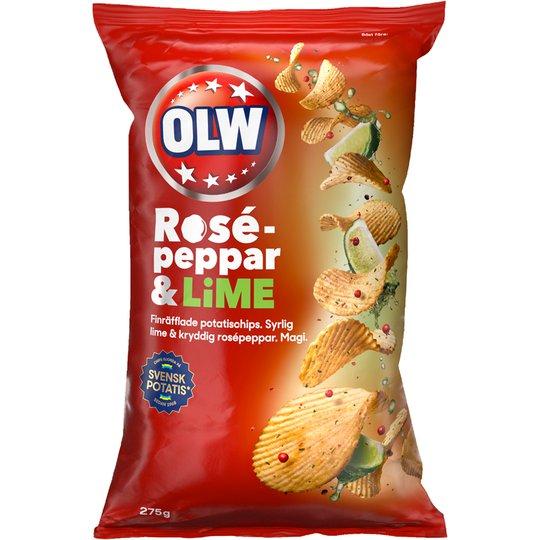 Chips Rosépeppar & Lime - 37% rabatt