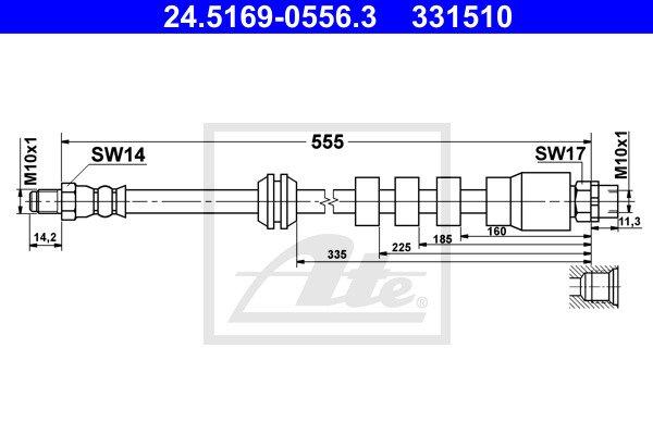 Jarruletku ATE 24.5169-0556.3
