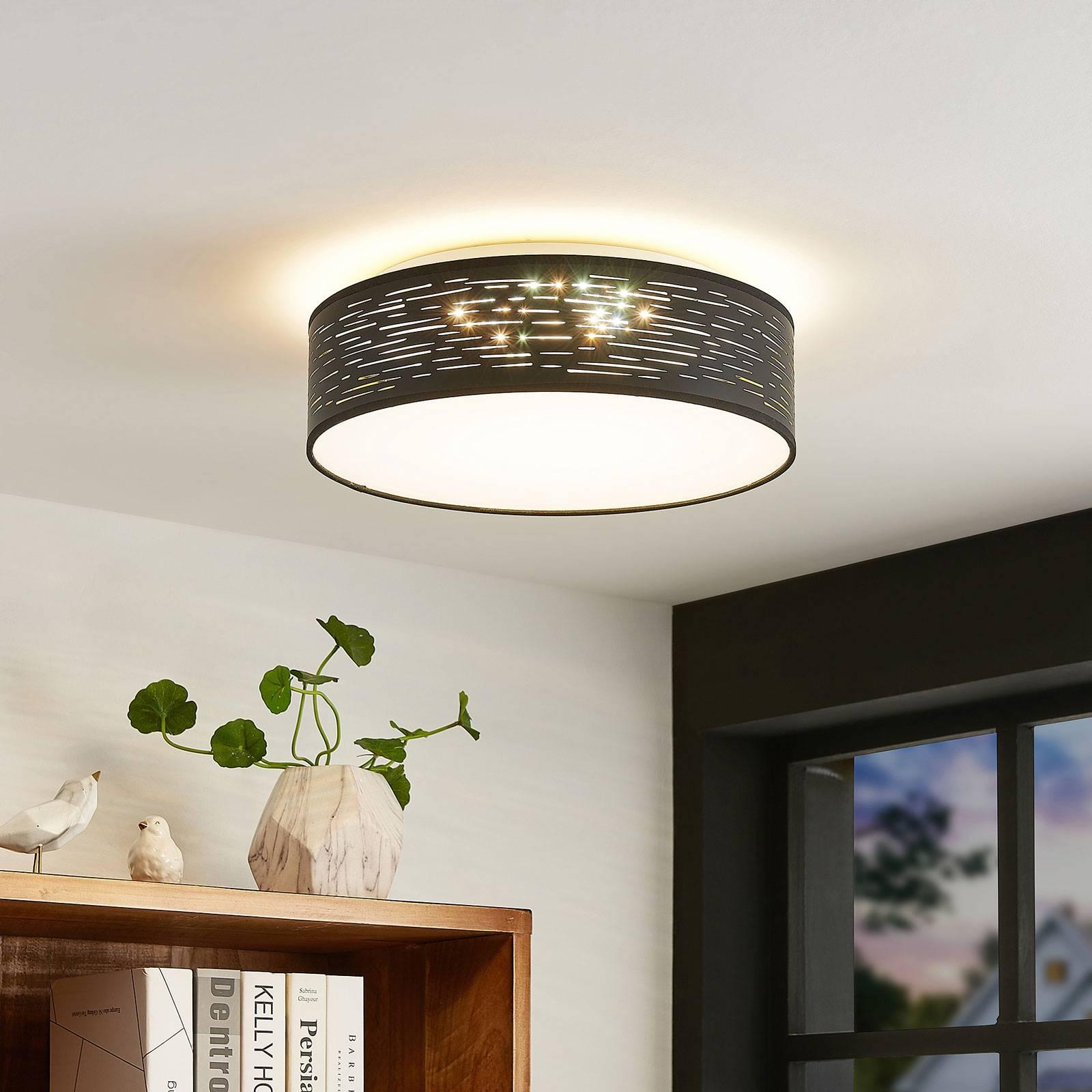 Lindby Iolyn -LED-kattovalaisin, Ø 38 cm