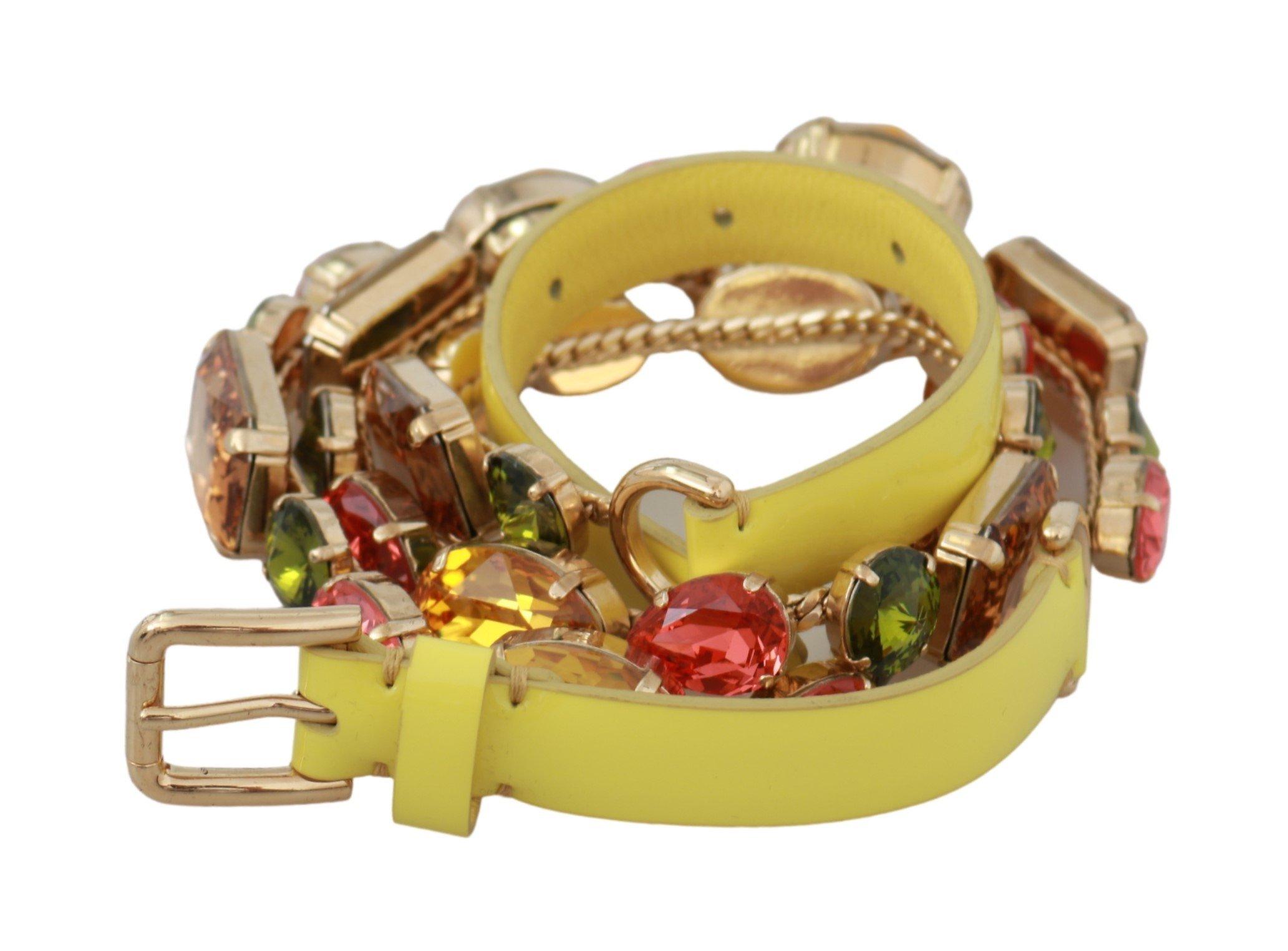 Dolce & Gabbana Women's Crystals Waist Belt Gold BEL60573 - 70 cm / 28 Inches