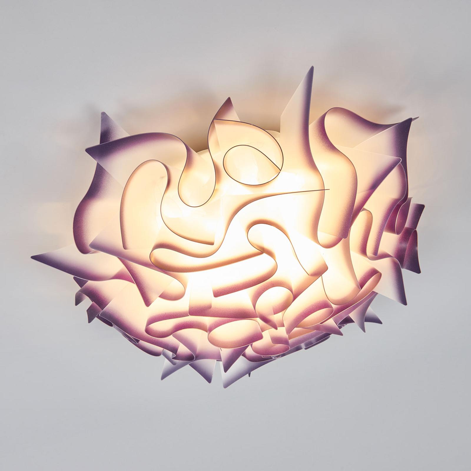 Slamp Veli -design-kattovalo, Ø 53 cm, violetti