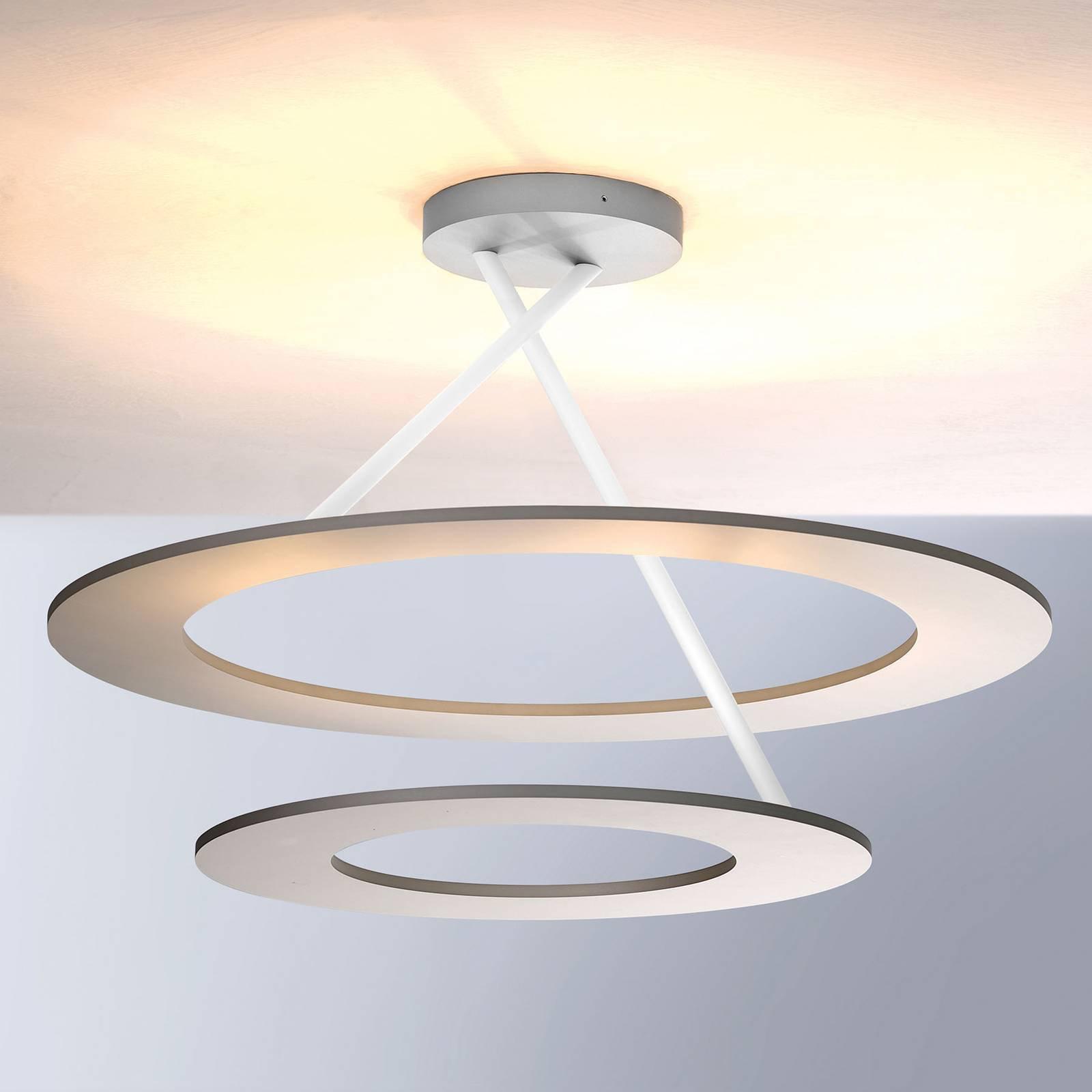 Bopp Stella LED-taklampe 2 ringer alu/hvit