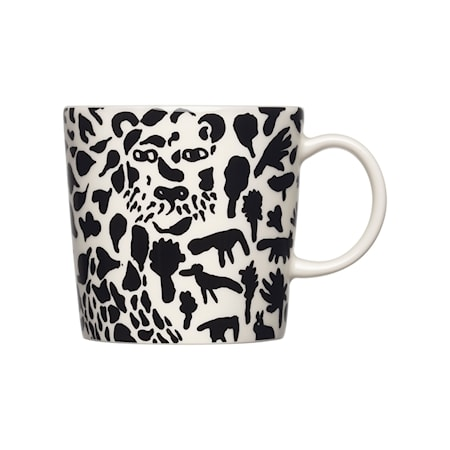 Oiva Toikka Collection mugg 30 cl Cheetah svart