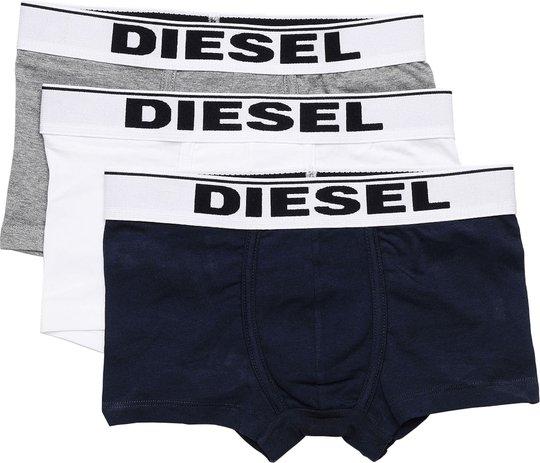 Diesel UMBX Damien Boksershorts 3-Pack, Grey Melange/Dark Blue/White 12 År