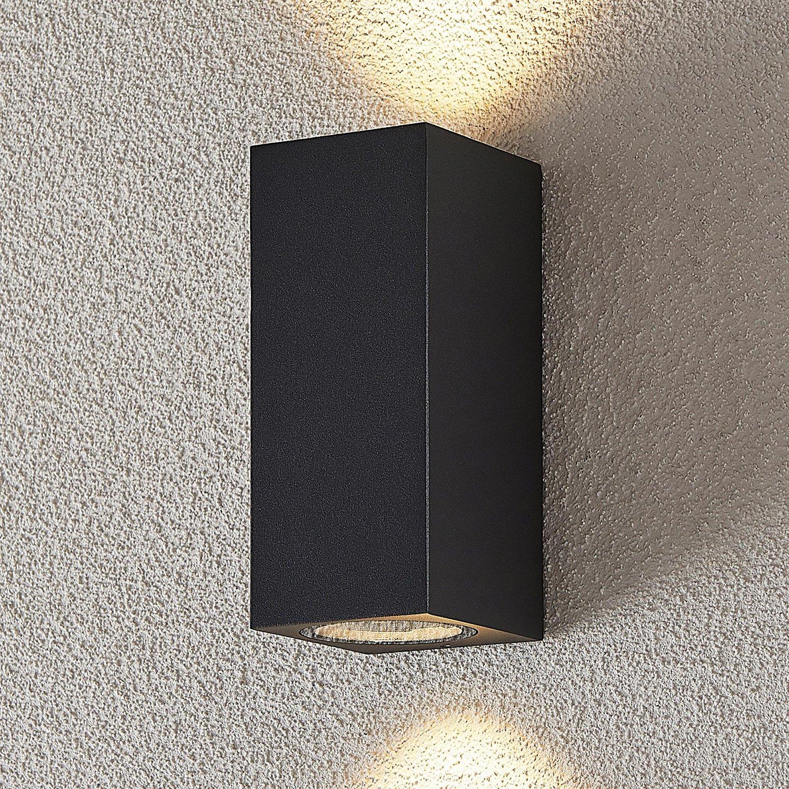 Utespot Lavina, mørk grå GU10, 2 lyskilder
