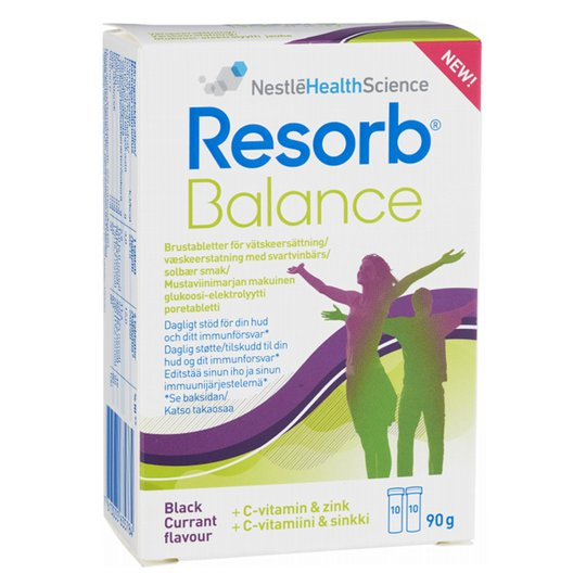"Nesteytystabletit ""Resorb Balance"" 20 kpl - 38% alennus"