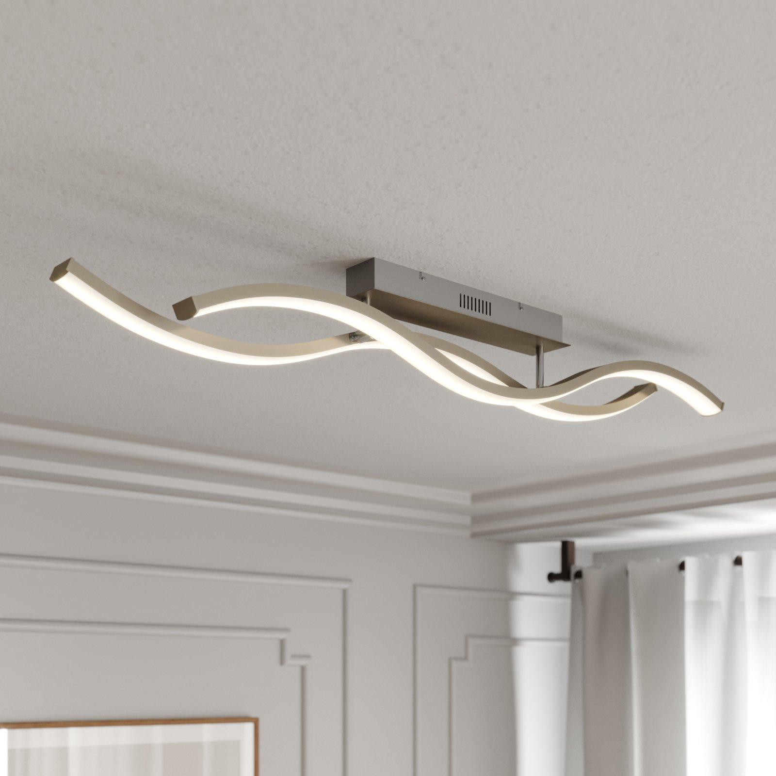 Lucande Mairia LED-taklampe, bølgeformet