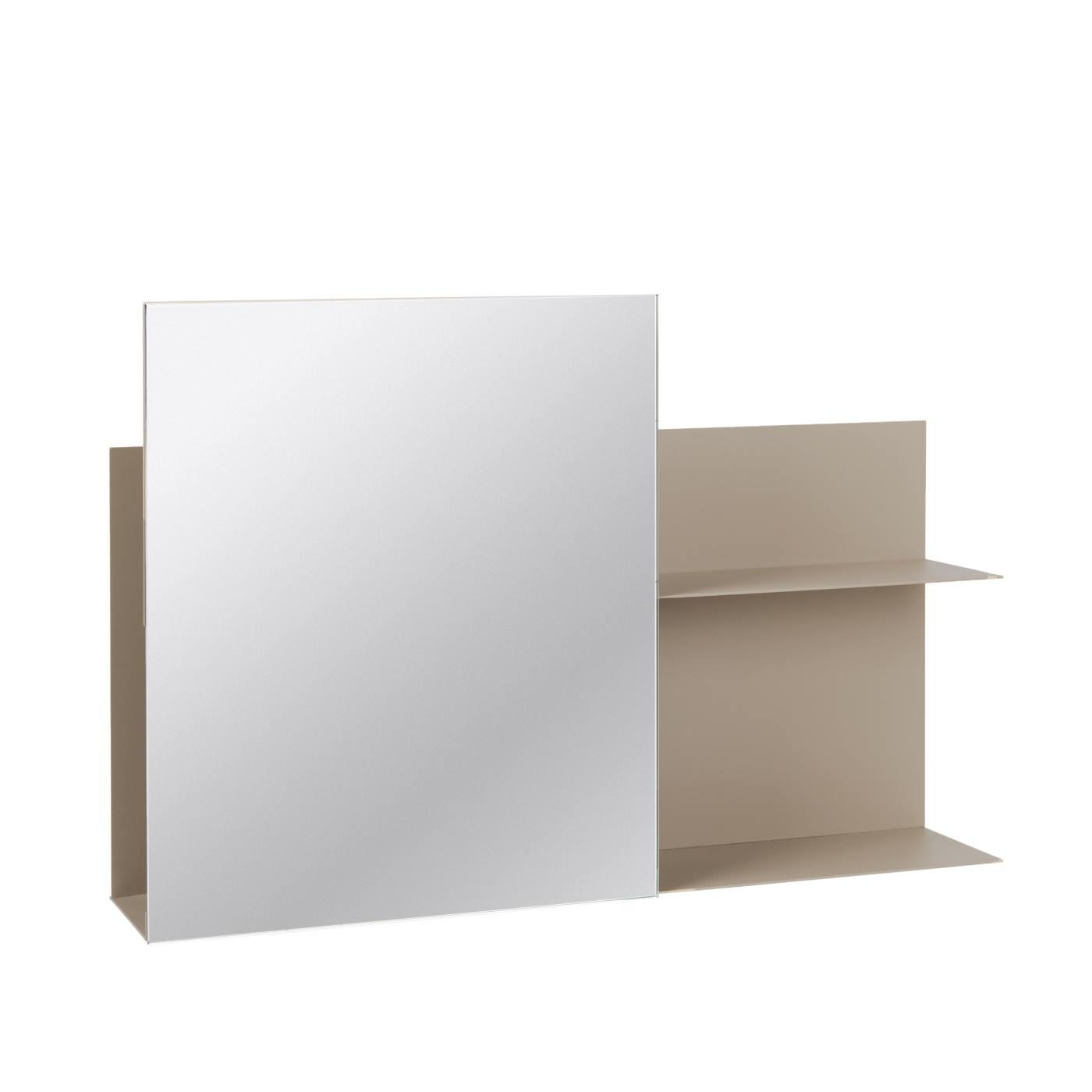 Spegel med förvaring beige Broste Copenhagen