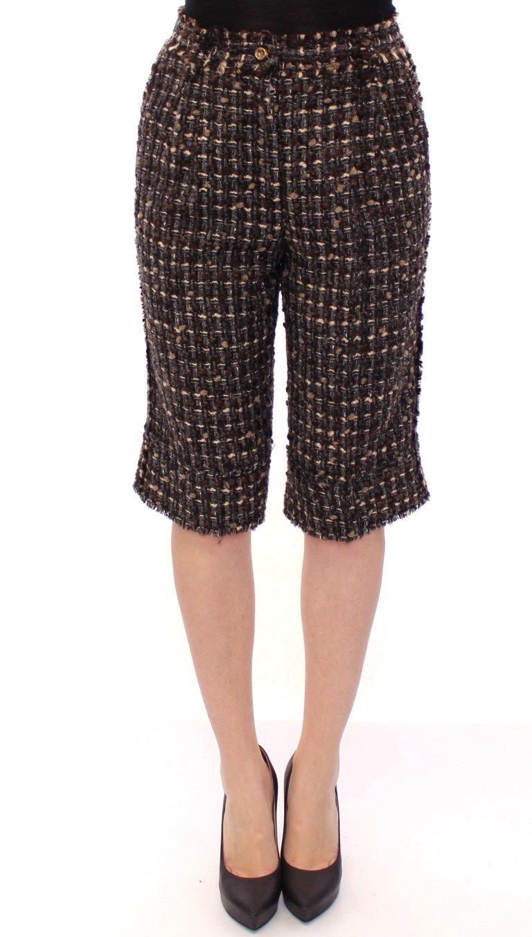 Dolce & Gabbana Women's Wool Shorts Multicolor GSS11736 - IT42|M