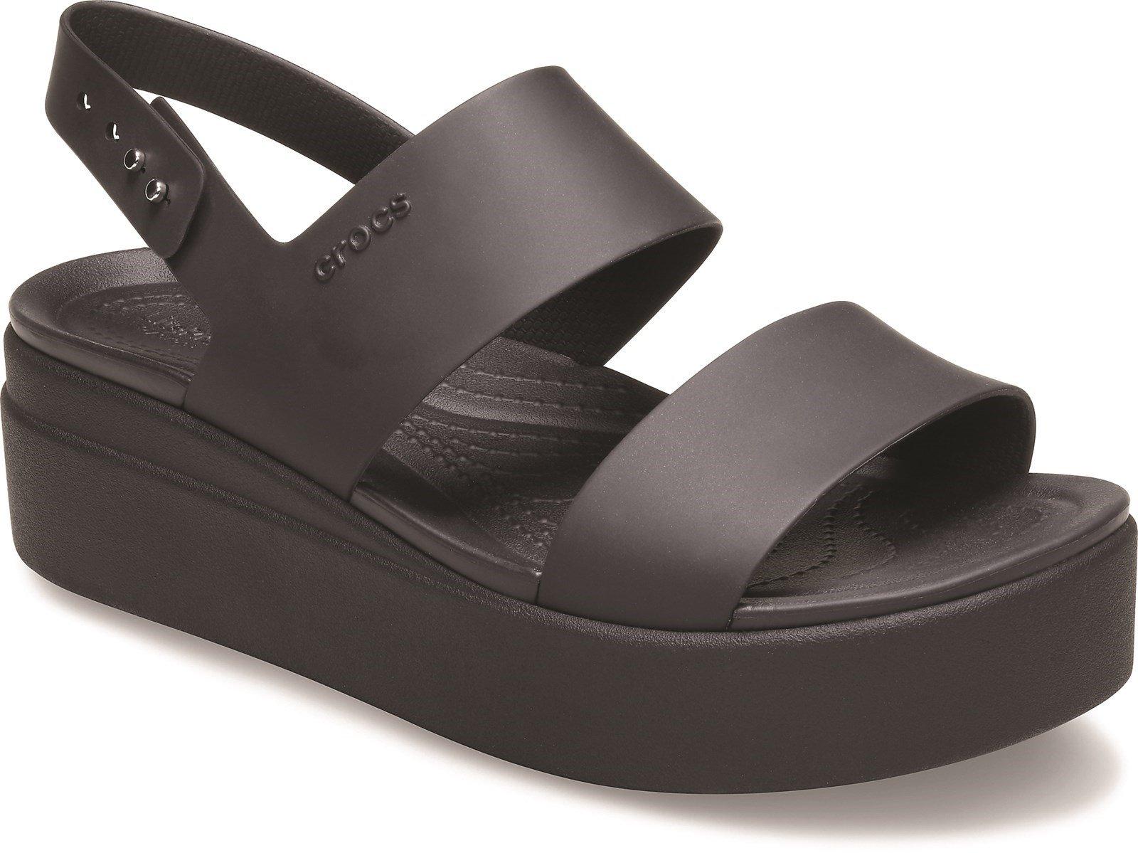 Crocs Women's Brooklyn Low Wedge Platform Sandal Various Colours 31458 - Black 3