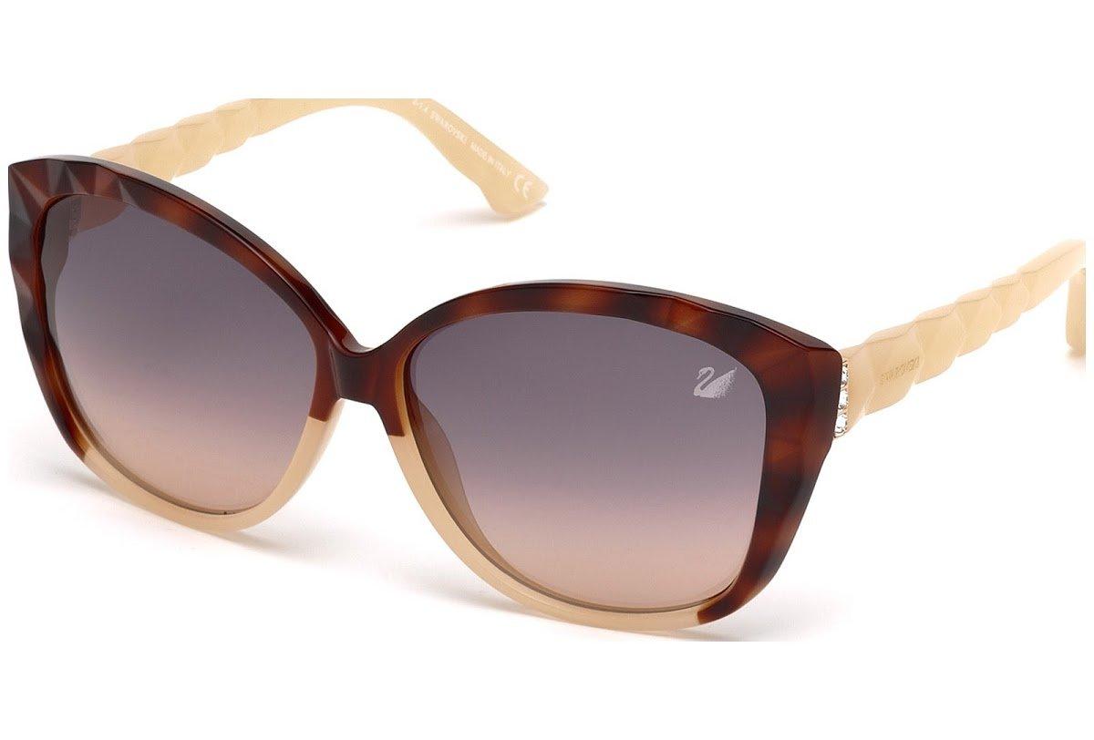 Swarovski Women's Sunglasses Brown SK0058 - brown-1 NOSIZE
