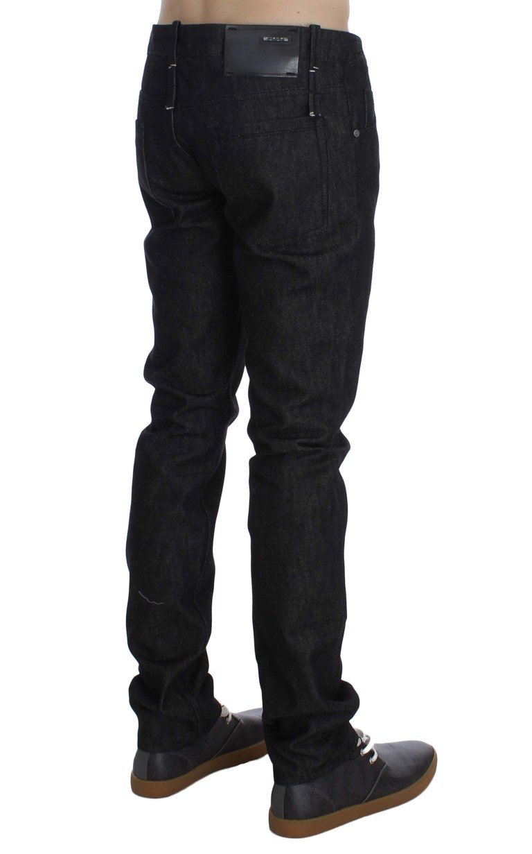 Acht Men's Cotton Slim Skinny Fit Jeans Black SIG30596 - W34