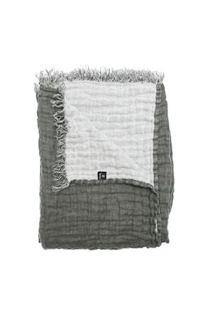 Pläd Hannelin charcoal/white 130x170