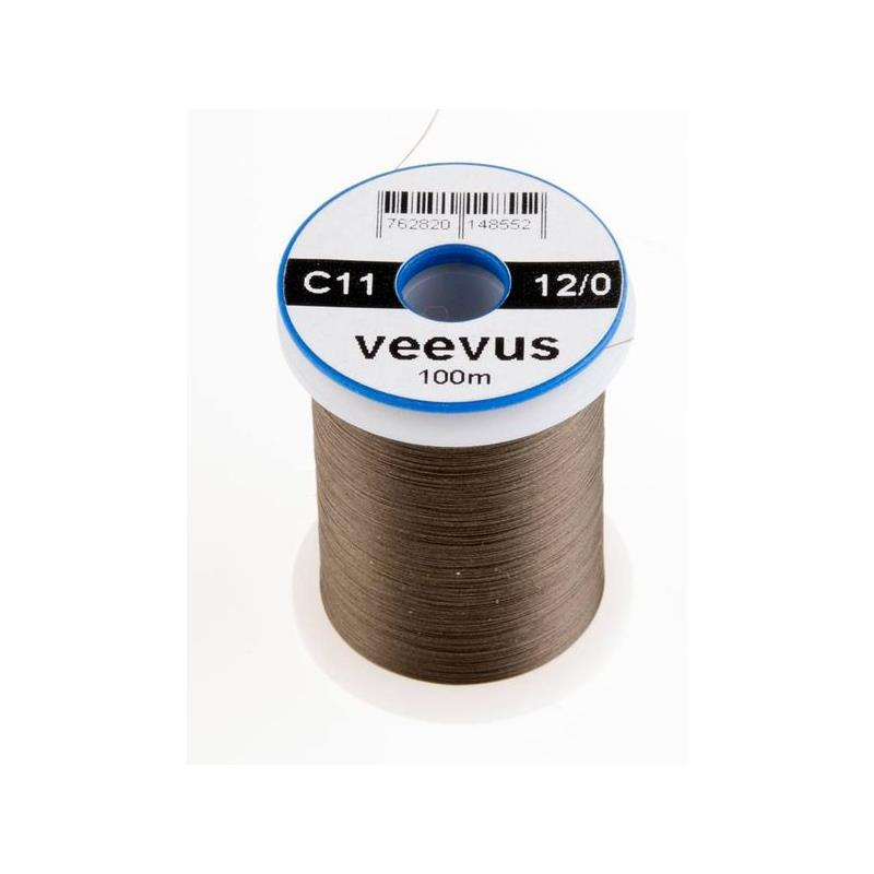 Veevus bindetråd 12/0 - Dark Olive Råsterk, lett å splitte