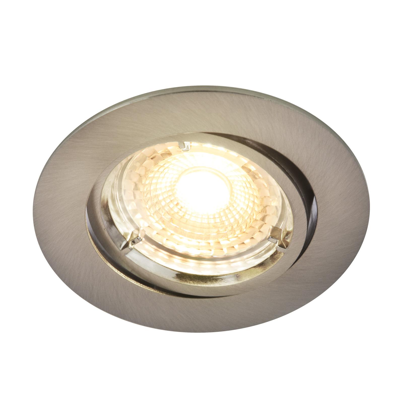 Carina-LED-kohdevalo, 2700K, dim tilt, nikkeli
