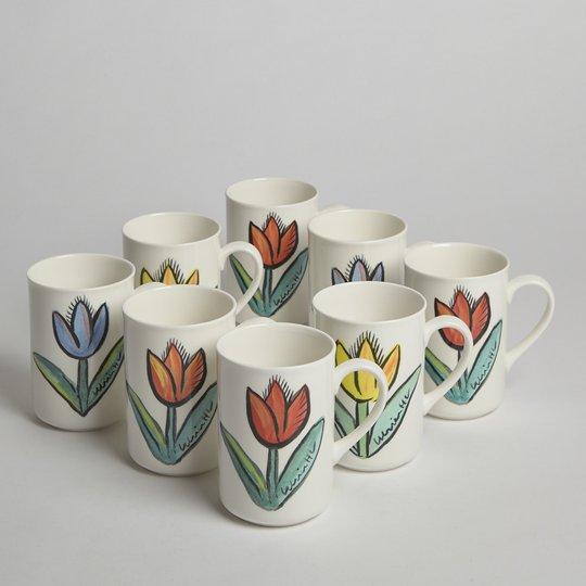 "Kosta Boda - SÅLD ""Tulipa"" Muggar 8 st"