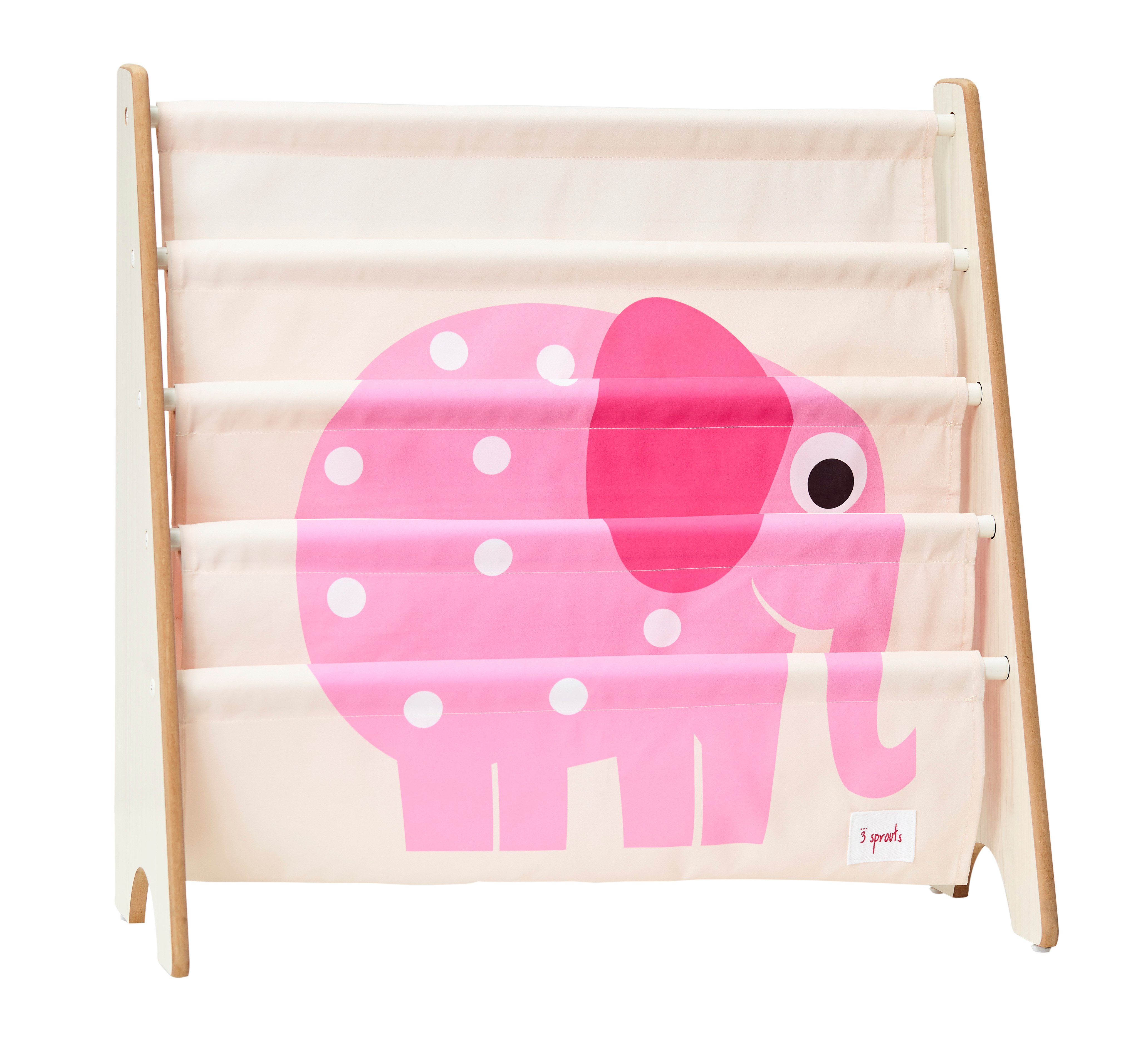 3 Sprouts - Book Rack - Pink Elephant