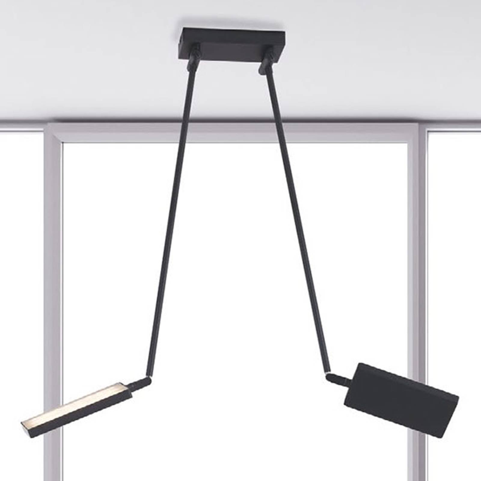 LED-kattovalaisin Book, musta