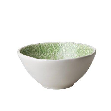 Lace Print Skål D:16 cm Keramikk Grønn