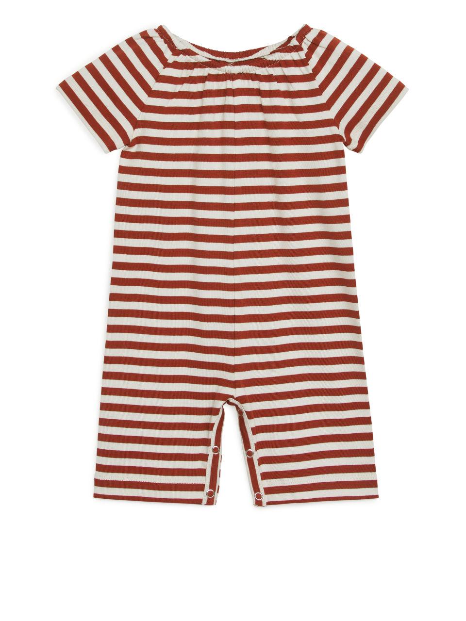 Striped Jumpsuit - Orange